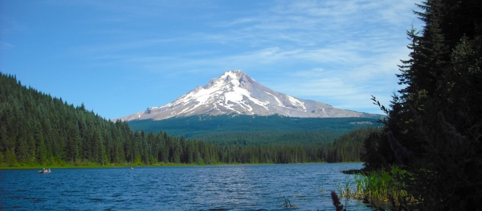 Mt. Hood from Trillium Lake during August. Photo by Tim Graves