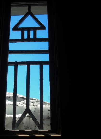 Snow is still piled up behind Timberline Lodge. Photo by Tim Graves.