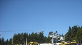 A quiet lift above snow removal equipment in May 2013. Photo by Tim Graves