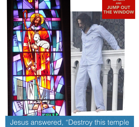 Keep Calm & Jump Out the (Stained Glass) Window