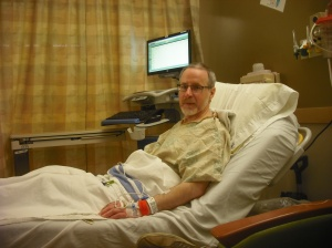 This is a photo in my pre-op room the Friday morning before my right colon was removed. Photo by Maggie Sebastian