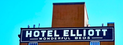 "Astoria, Oregon Hotel Elliott touts ""wonderful beds."" Photo by Tim Graves (Creative Commons License BY-NC-ND 3.0)"